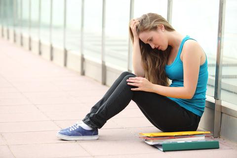 student alone